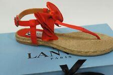 LANVIN SATIN RED BOW ESPADRILLE THONG SANDAL SHOES 36/6 NIB $575
