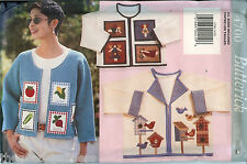 Butterick 4700 Misses Applique Jackets Soft Stuff Sewing Pattern UNCUT FF spring