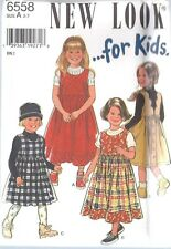 6558 Vintage UNCUT New Look SEWING Pattern Little Girls Dress 2 - 7 OOP SEW FF