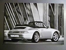 """1997 Porsche 911 Carrera Cabriolet B&W Press Factory Issued """"Werkfoto"""" Photo"""