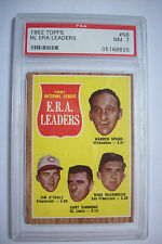 1962 topps #56 NL ERA Leaders psa graded 7 nmt