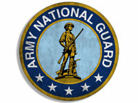 """4"""" vintage national guard decal seal sticker military us"""