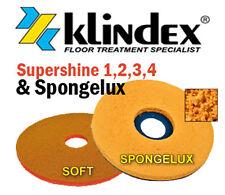 """Klindex Diamond Floor Pad System Set Supershine 1, 2, 3, 4 & Spongelux Soft 17"""""""