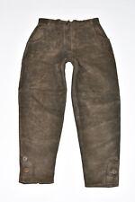 """VINTAGE Marrone in Pelle Alphorn Affusolato Donna Pantaloni Pants Taglia W29"""" L28"""""""