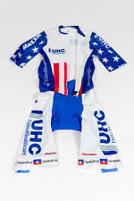 New Men's 2016 Vermarc UHC Pro Cycling National Champ SS Pocketed Skinsuit, Sz S