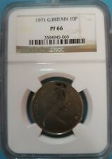 1971 Great Britain 10 Pence NGC PF66