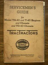 Ih Farmall Mccormick International T40 Ta40 Td40 Crawler Service Manual