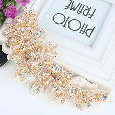 Demoiselle d'honneur mariage or rose autrichien cristal suisse coupe diamant cheveux peigne