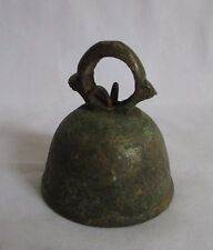 Vintage Indian Handcrafted Original Brass Lord God Pooja Worship Bell