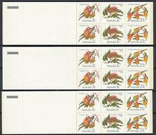 Australia 1982 ☀ Eucalypts flowers ☀ 3v MNH Booklets 3x60c.