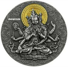 2020 2 Oz Silver 2,000 Francs Cameroon ANCIENT BUDDHA Antique Finish Coin.