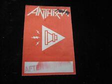 "Vintage Anthrax After Show Backstage Sticker 3-1/4"" X 4-3/4"""