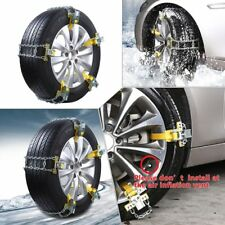 1pc Car SUV Anti-Skid Tire Chain Metal For Snow Ice Mud Emergency Driving M Size