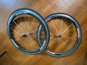 Zipp 303 Carbon Clincher Road Aero Wheelset + Gatorskin Tires + Skewers