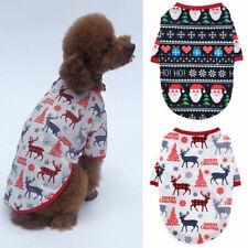 Christmas Snowman Dog Pet Clothes Vest T-shirt Sweater Winter Warm Acces