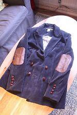 Diane von Furstenberg 12 Medium Grey Corduroy Oversized Blazer Boyfriend Jacket