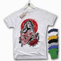 T-Shirt - TATTOO PRAY - tätowieren Virgin Oldschool Tattoo Cotton S M L XL XXL