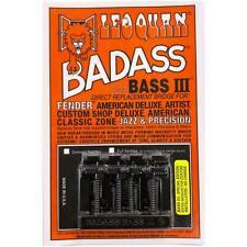 Leo Quan Badass Bass III Bridge 4 String Grooved Saddles Black