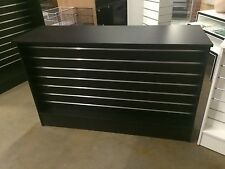 Black slatwall retail shop counter, brand new 1200 x 510 x 910. OUT OF STOCK