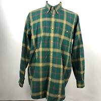 Orvis Multi Color Plaid and Checks Button Down Shirt Long Sleeve Mens Size Large