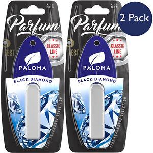 Paloma Black Diamond Fragrance Dark Intoxicating Car Air Freshener 2 Pack Scent