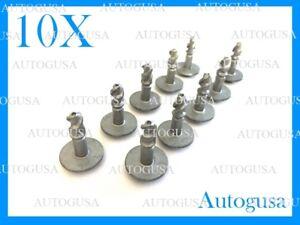 SET OF 10X AUDI BMW UNDER ENGINE & GEARBOX UNDERTRAY COVER SCREWS FASTENERS