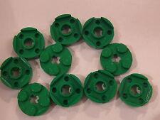 Lego 10 plates rondes verte 5891 31038 6292  / 10 green round plates