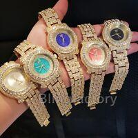 Men's Iced out Luxury Rapper's Lab Diamond Metal Band Bracelet Clubbing Watch