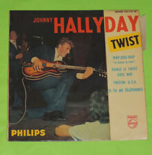 VINYLE JOHNNY HALLYDAY TWIST FRENCH DISQUES PHILIPS 432.724 BE AVEC LANGUETTE