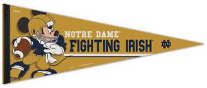 Notre Dame Fighting Irish MICKEY MOUSE QB Disney Premium Felt Collectors PENNANT