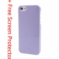Purple Ultra Thin Hard Plastic Back Case Cover For Apple iPhone 5 5G 5th SE