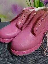 Timberland waterproof genuine leather size 7.5 Pink Boots shoes .