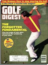 Golf Digest - 1985, August - The Angle of Your Spine Determines Shot Consistancy