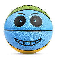 Kuangmi Basketball Kids Smiling Face Mini Ball Basketball Game Size 3 4 5