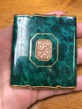 Gold And Green Makeup Compact Vintage Germany