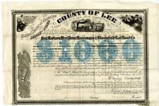 1857  $1000  Iowa Fort Madison West Point Keosauqua & Bloomfield Railroad Bond