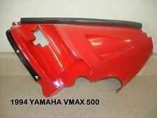 1994 94 YAMAHA VMAX V-MAX 500 RIGHT FRONT NOSE PIECE PLASTIC RED SHOCK PANEL