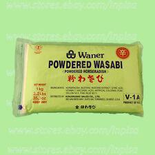 WANER WASABI POWDER 4 Bags x 2.2 lbs ORIGINAL HORSERADISH