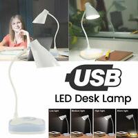 USB Rechargeable Touch Sensor Cordless LED Light Desk Table Reading Lamp