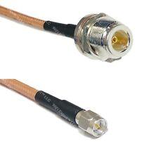 RG400 Silver N FEMALE BULKHEAD to SMA MALE Coax RF Cable USA Lot
