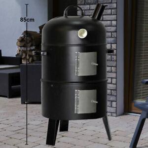 Holz Kohle Garten Grill Räucher Ofen Smoker Party Fleisch Fisch Barbecue Outdoor