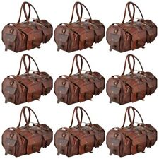 Large Men's Leather Sports Duffle Bag Tote Handbag Travel Gym Fitness Bags New