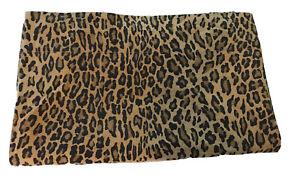 Vintage RALPH LAUREN Aragon Leopard Print Queen Flat Sheet USA
