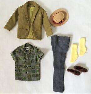 Vintage Ken DREAMBOAT Fashion Sports Coat Shirt Pants Shoes Socks Straw Hat