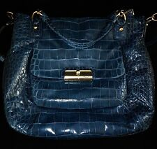 NEW COACH Ltd Ed KRISTIN EMBOSSE DDENIM CROC EXPANDABLE N/S TOTE BAG SATCHEL XL