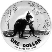 1 AU Dollar Silber Känguru 2007 Kangaroo 1 OZ Silver