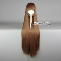 100cm Straight Dark Brown lovely Style Anime Party Cosplay wigs Gothic Lolita