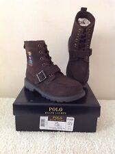 Kids Polo Ralph Lauren Ranger Hi Sweater Bear Boots {Chocolate Brown Size 12.5]
