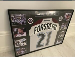Signed And Framed Peter Forsberg Colorado Avalanche Jersey With coa