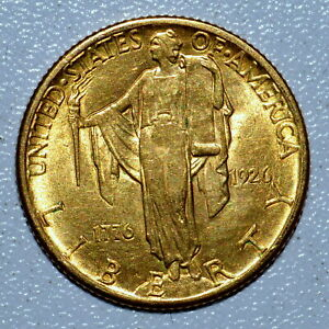 1926 GOLD $2.50 SESQUICENTENNIAL ✪ UNCIRCULATED UNC ✪ BU 1776 2 1/2 ◢TRUSTED◣
